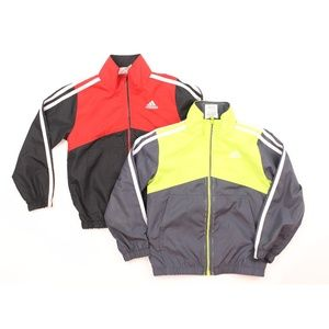 Lot Of 2 adidas Windbreaker Zipper Down Jacket